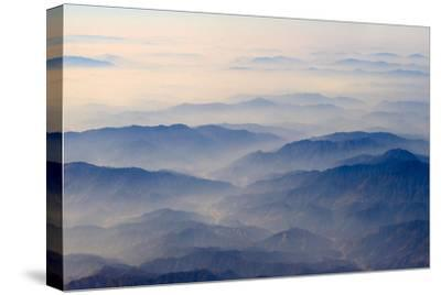 Aerial view of mountains, China-Keren Su-Stretched Canvas Print
