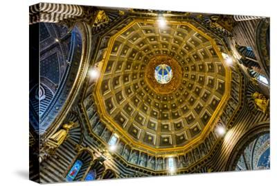 Siena Cathedral interior. Siena, Italy. Completed from 1215 to 1263.-William Perry-Stretched Canvas Print