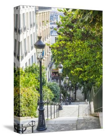 Stairs leading up to Montmartre-Sylvia Gulin-Stretched Canvas Print