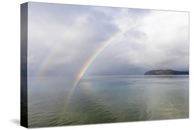 USA, Washington State, Seabeck. Rainbow over Hood Canal.-Jaynes Gallery-Stretched Canvas Print