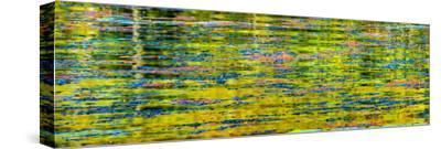 Abstract reflection of Lake Washington. Kirkland, Washington State.-William Perry-Stretched Canvas Print