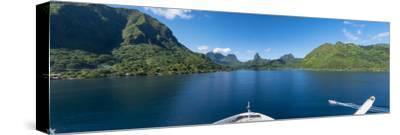 Opuhunu Bay. Moorea, French Polynesia.-Douglas Peebles-Stretched Canvas Print