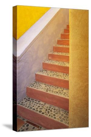 Mexico, Costalegre. Colorful stone stairs.-Jaynes Gallery-Stretched Canvas Print