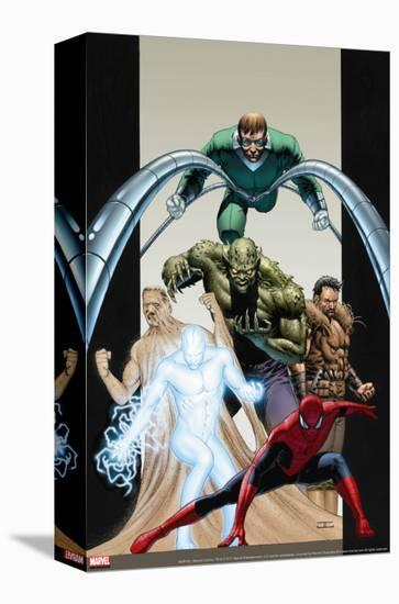 Ultimate Six No.7 Cover: Spider-Man-John Cassaday-Stretched Canvas Print