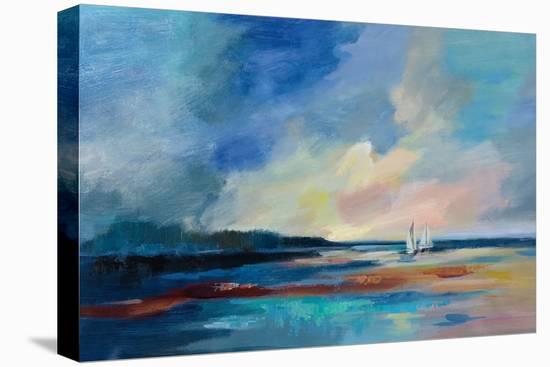 Ultramarine Sea and Sky-Silvia Vassileva-Stretched Canvas Print