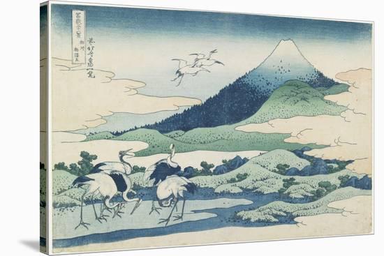 Umezawa Village in Sagami Province, 1831-1834-Katsushika Hokusai-Stretched Canvas Print