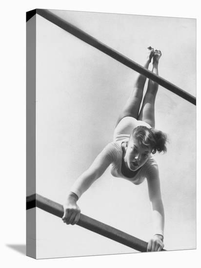 US Gymnast Muriel Davis Practicing at the National Gymnastic Clinic-Stan Wayman-Stretched Canvas Print
