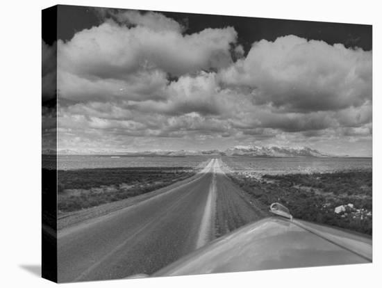 US Highway 20 Between Blackfoot and Arco-Frank Scherschel-Stretched Canvas Print