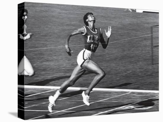 US Runner Wilma Rudolph at Olympics-Mark Kauffman-Stretched Canvas Print