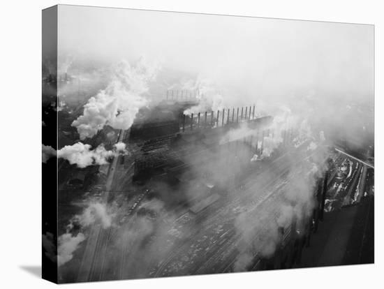 US Steel Aerial. Gary, Indiana. 1951-Margaret Bourke-White-Stretched Canvas Print