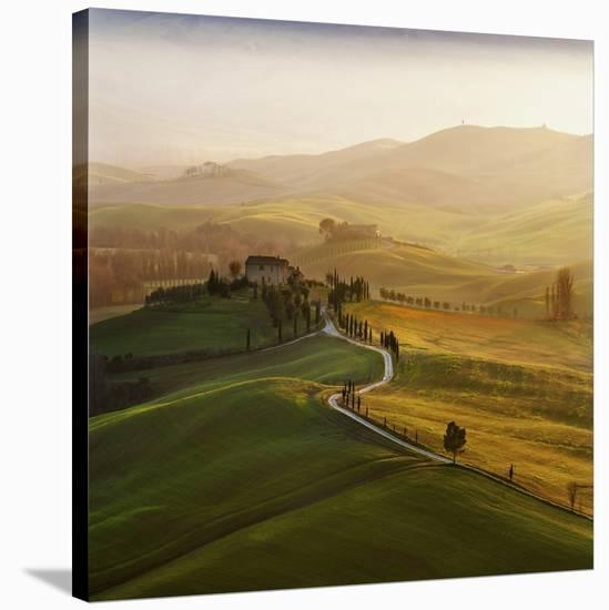Val D'Orcia-Jarek Pawlak-Stretched Canvas Print