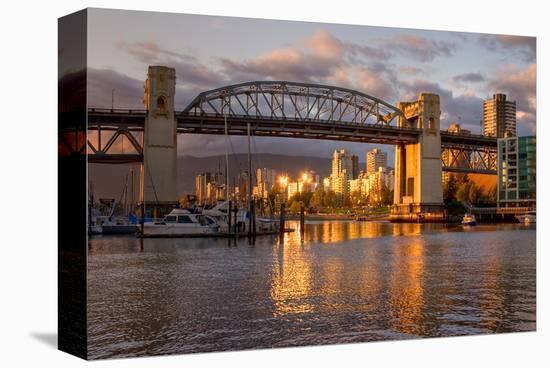 Vancouver-Burrard Bridge Dusk--Stretched Canvas Print