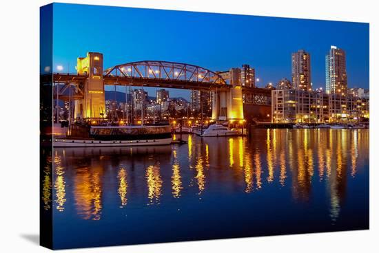 Vancouver Cityscape & Marina--Stretched Canvas Print