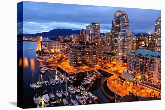 Vancouver Downtown Canada--Stretched Canvas Print