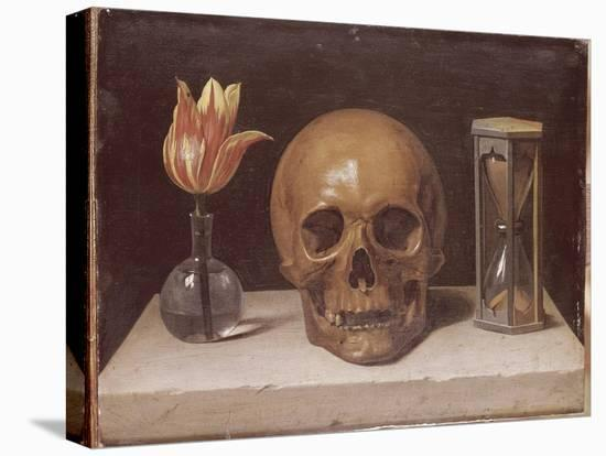 Vanité-Philippe De Champaigne-Stretched Canvas Print