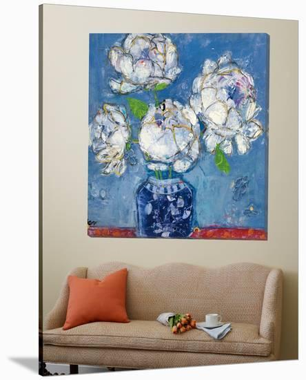 Vase of Peonies-Kellie Day-Loft Art