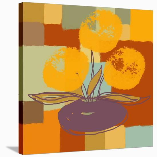 Vase with Yellow flowers-Yashna-Stretched Canvas Print