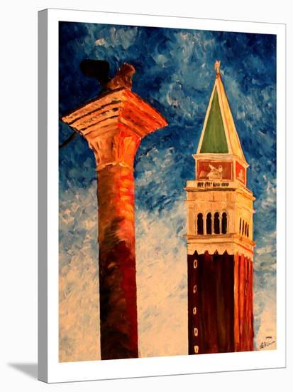 Venice Campanile-M Bleichner-Stretched Canvas Print