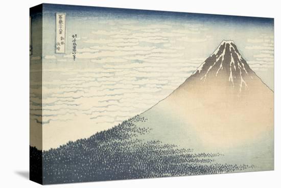 Vent frais par matin clair ou Le Fuji rouge-Katsushika Hokusai-Stretched Canvas Print