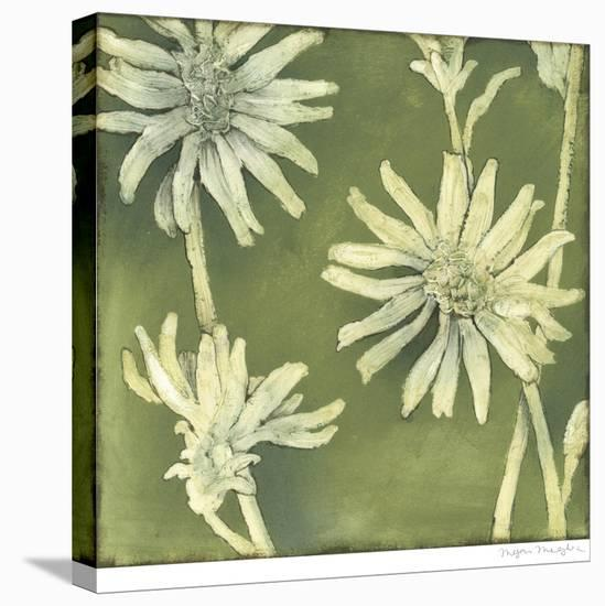 Verdigris Blossoms III-Megan Meagher-Stretched Canvas Print