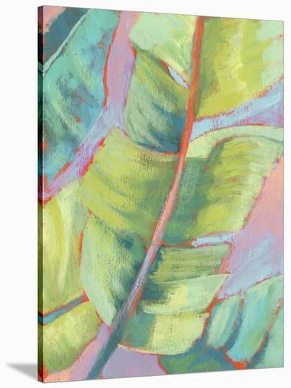 Vibrant Palm Leaves II-Jennifer Goldberger-Stretched Canvas Print
