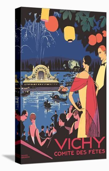 Vichy, France - Comité des Fêtes Festival-Roger Broders-Stretched Canvas Print