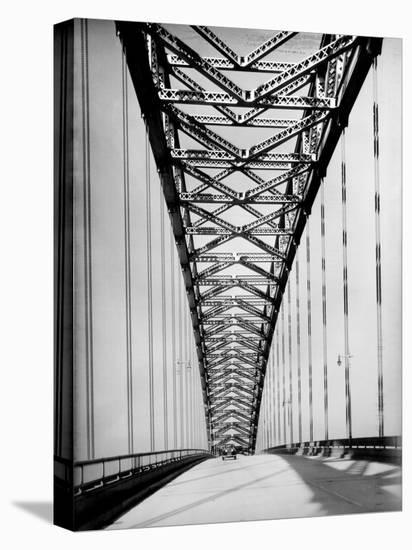 View Along the Bayonne Bridge-Margaret Bourke-White-Stretched Canvas Print