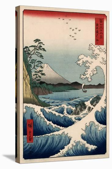 View from Satta Suruga-Ando Hiroshige-Stretched Canvas Print