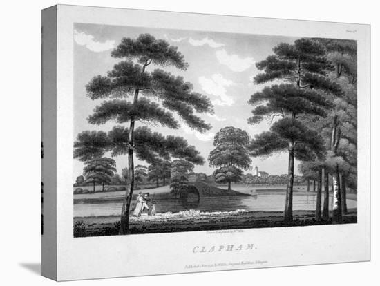 View of Clapham, London, 1792-William Ellis-Stretched Canvas Print