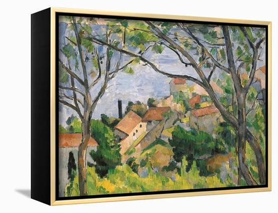 View of L'Estaque Through the Trees, 1879-Paul C?zanne-Framed Canvas Print