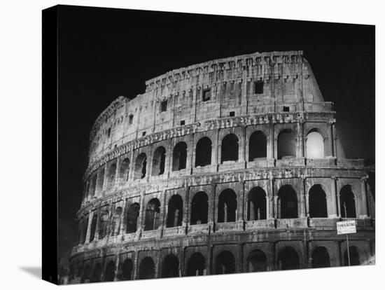 View of the Ruins of the Colosseum in the City of Rome-Carl Mydans-Stretched Canvas Print