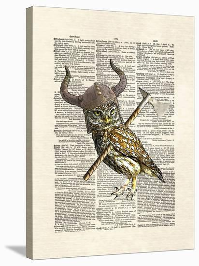 Viking Owl-Matt Dinniman-Stretched Canvas Print