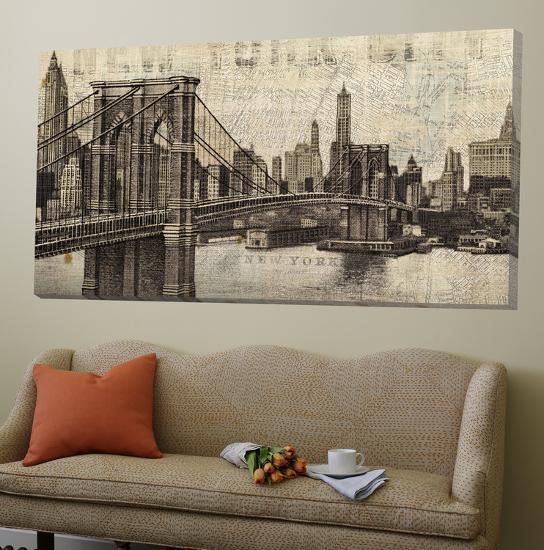 Vintage Brooklyn Bridge-Michael Mullan-Loft Art