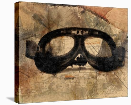 Vintage Motorcycle Glasses-Irena Orlov-Stretched Canvas Print
