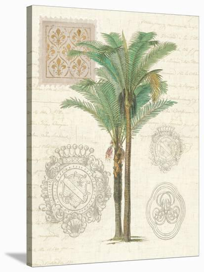 Vintage Palm Study Ii-Wild Apple Portfolio-Stretched Canvas Print
