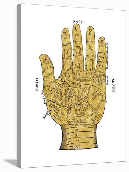 Vintage Palmistry-Oliver Jeffries-Stretched Canvas