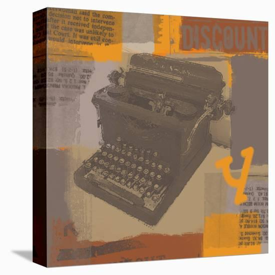 Vintage Typewriter I-Yashna-Stretched Canvas Print