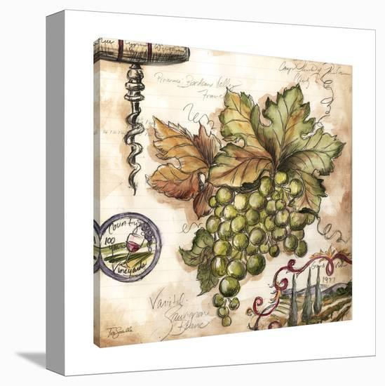Vintner's Journal: Green Grapes-Tre Sorelle Studios-Gallery Wrapped Canvas