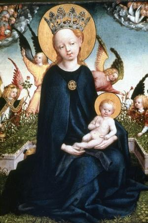 Virgin and Child, 15th Century-Martin Schongauer-Stretched Canvas Print