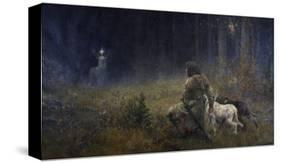 Vision of St. Hubert, 1892-Wilhelm Carl Räuber-Premier Image Canvas