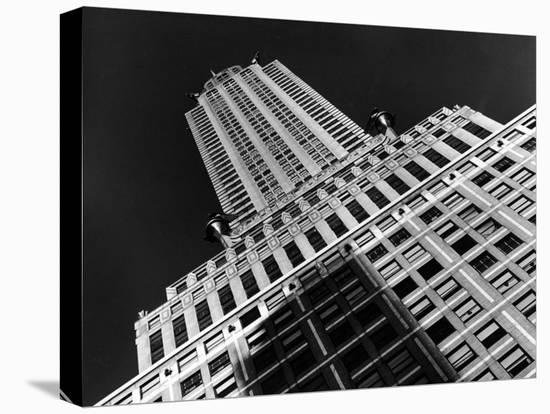 Viwe of the Chrysler Building Which Housed Time Offices from 1932-1938-Margaret Bourke-White-Stretched Canvas Print