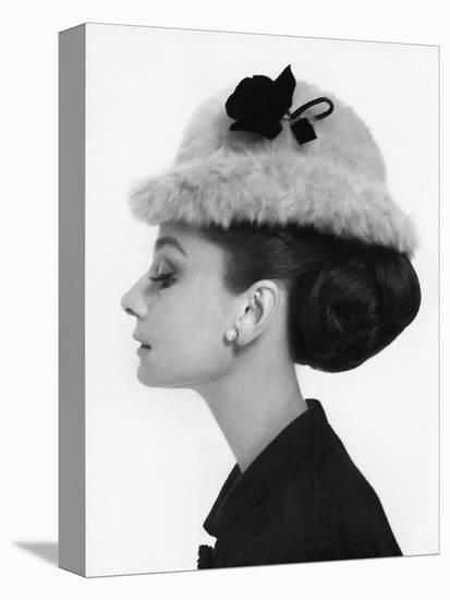 Vogue - August 1964 - Audrey Hepburn in Fur Hat-Cecil Beaton-Stretched Canvas