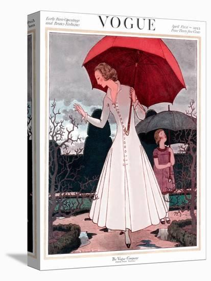 Vogue Cover - April 1922-Pierre Brissaud-Stretched Canvas