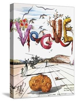 Vogue Cover - April 1944 - Dali's Surealist Vogue-Salvador Dalí-Stretched Canvas