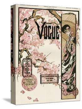 Vogue Cover - February 1905-null-Stretched Canvas