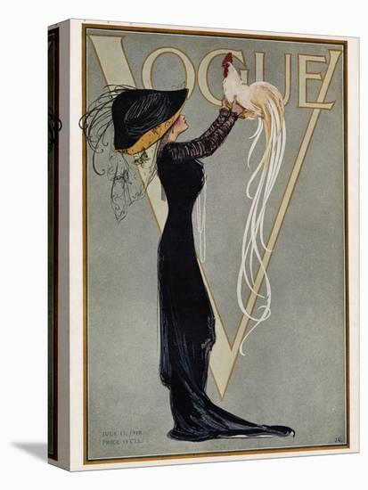 Vogue Cover - July 1910-null-Stretched Canvas