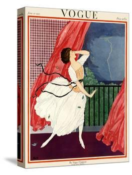 Vogue Cover - June 1921-George Wolfe Plank-Stretched Canvas