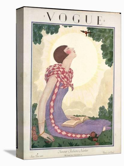 Vogue Cover - June 1925-Georges Lepape-Stretched Canvas