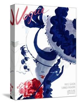 Vogue Cover - June 1935 - Paris Parasol-Jean Pagès-Stretched Canvas