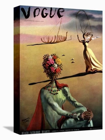 Vogue Cover - June 1939 - Dali's Dreams-Salvador Dalí-Stretched Canvas